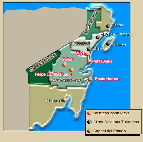 Map from Mayan Zone